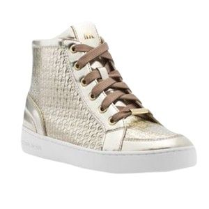 Michael Kors BRECK Metallic High Top Sneakers 7.5